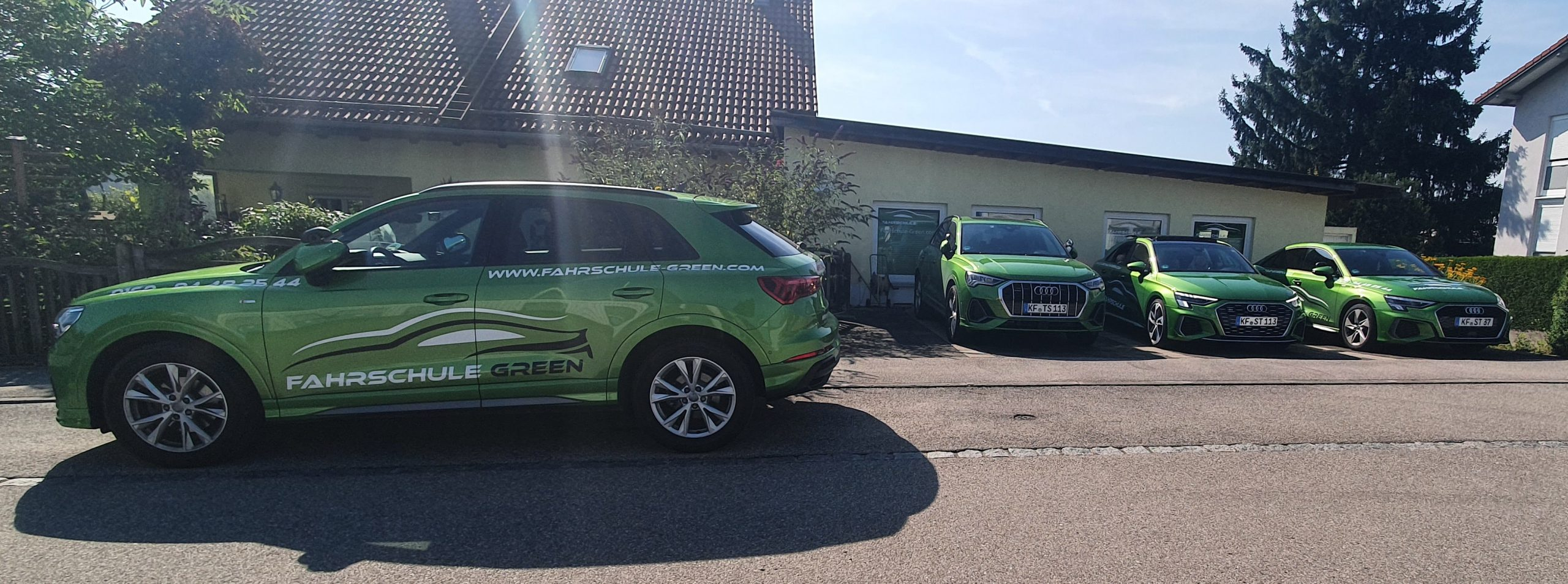 fuhrpark-audi-grün-fahrschule-green-kaufbeuren-neugablonz