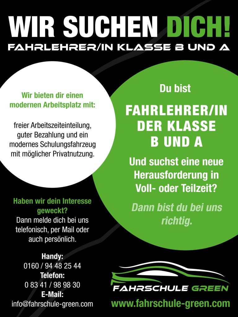 stellenanzeige-fahrschule-green-kaufbeuren-neugablonz-fahrlehrer-gesucht